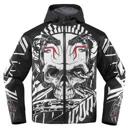 Icon Mens Merc Vitriol Armored Hooded Softshell Motorcycle Riding Jacket 2015 Black