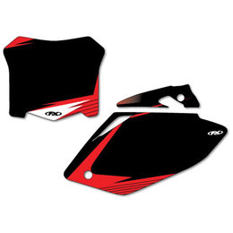 Black Factory Effex Graphic #plate Background For Honda Crf 08