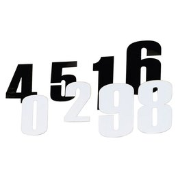 Moose Racing Race Number 6 Inch #8 Black