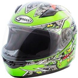 GMAX Youth GM49 GM-49 Alien Full Face Helmet Black