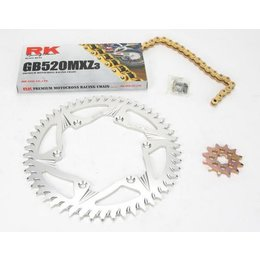 RK Chain/Sprocket Kit GB 520 MXZ Black/GD For Yamaha YZ125/250
