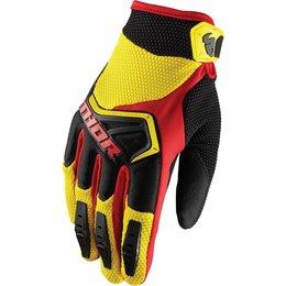 Thor Youth Boys Spectrum MX Gloves Yellow