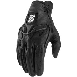 Icon Mens 1000 Collection Baserunner Leather Gloves Black