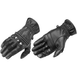 Black Firstgear Mens Route 36 Leather Gloves 2014