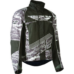 Black, White Fly Racing Mens Snx Wild Snow Jacket 2015 Black White