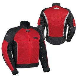 Red, Black Tour Master Intake Air Series 3 Mesh Jacket Red Black