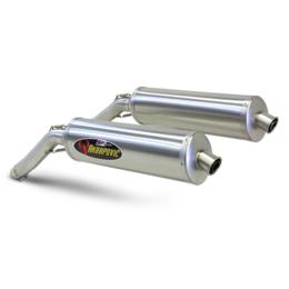 Stainless Steel Midpipes, Titanium Mufflers, Titanium End Caps Akrapovic Sp Dual Slip-on Mufflers Oval Ss Ti Ti For Suzuki Dl1000 V-strom 04-06