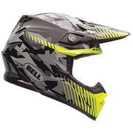 Bell Powersports Moto-9 Camo Helmet Yellow