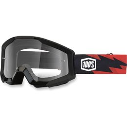 Black, Red 100% Strata Slash Goggles With Clear Lens 2014 Black Red