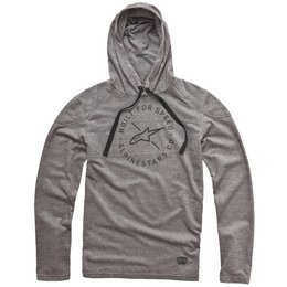 Alpinestars Mens Borsen Long Sleeve Hooded T-Shirt Grey