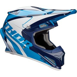 Thor Sector Ricochet DOT Approved MX Motocross Riding Helmet With Visor Blue