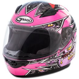 GMAX Youth Girls GM49 GM-49 Alien Full Face Helmet Pink