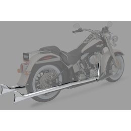 Python Fishtail 2:2 Dual Exhaust System Chrome For Harley-Davidson FLS/T FXS