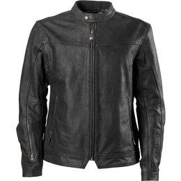 RSD Roland Sands Designs Mens Walker Perforated Leather Jacket Black