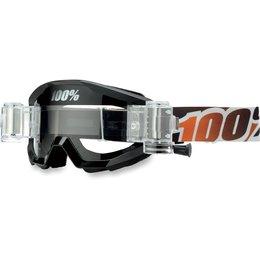Black, Orange 100% Strata Svs Goggles With Clear Lens 2014 Black Orange