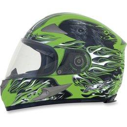 Bright Green Afx Mens Fx-90 Fx90 Reaper Full Face Helmet