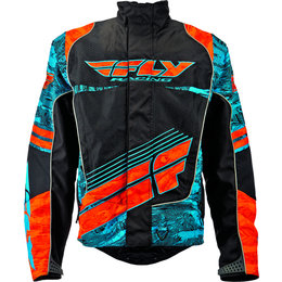 Blue, Orange Fly Racing Mens Snx Wild Snow Jacket 2015 Blue Orange