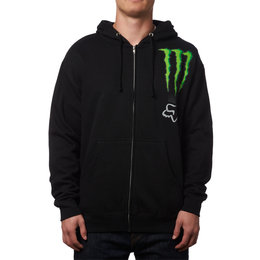 Fox Racing Mens Monster Energy Classic Zebra Zip Motocross Hoody Sweatshirt Black