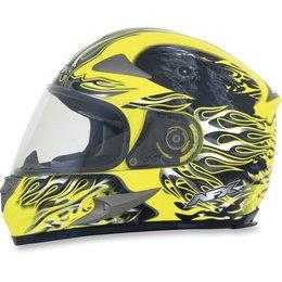 Hi-vis Yellow Afx Mens Fx-90 Fx90 Reaper Full Face Helmet