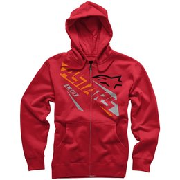 Alpinestars Mens Precise Regular Fit Zip Hoody Red