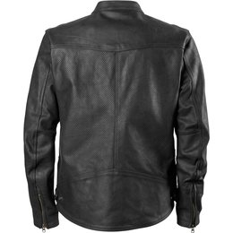 RSD Roland Sands Designs Mens Walker Perforated Leather Jacket Black