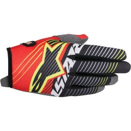 Alpinestars Mens Radar Tracker MX Motocross Offroad Textile Riding Gloves Red