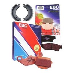 EBC Drum Brake Grooved Shoe For Honda 250/300 TRX/ATC Big Red Unpainted