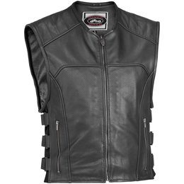 Black River Road Ruffian Perforated Leather Vest 2013