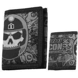 Black Icon Busted & Broken Velcro Wallet