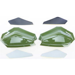 Powermadd Star Series Snowmobile Handguard Extension Hunter Green 34249 Green