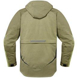 Icon Mens Raiden UX Armored Waterproof Textile Jacket Brown