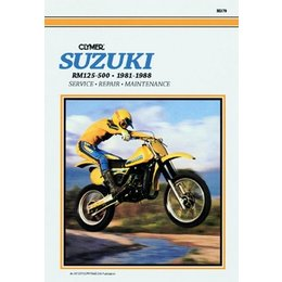 Clymer Repair Manual For Suzuki RM125-500 Monoshock 81-88