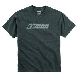 Icon Mens Single Stack Crew Neck Short Sleeve T-Shirt Charcoal Grey