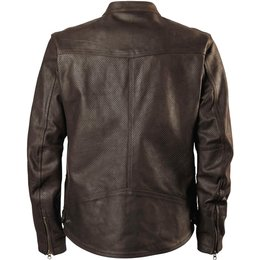 RSD Roland Sands Designs Mens Walker Perforated Leather Jacket Brown
