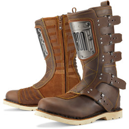 Icon Mens 1000 Collection Elsinore HP Leather Boots Brown