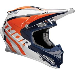Thor Sector Ricochet DOT Approved MX Motocross Riding Helmet With Visor Blue
