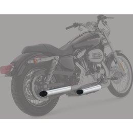 Python 2.5 Inch Slash-Cut Slip-On Exhaust Mufflers Chrome For Harley 2004-13 Silver