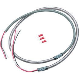 432631 namz rti braided wiring harness for tachometer 48 inch stainless steel universal_260 wiring harnesses cycle visions custom wire harness at bakdesigns.co