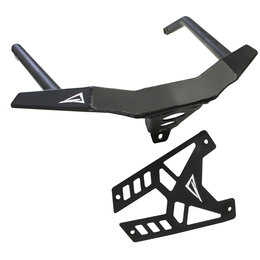 Skinz Standard Series ChromAlloy Front Bumper For Polaris Flat Black PFB350-FBK Black