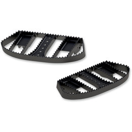 Burly Brand MX-Style Driver Floorboards For Harley Black B13-1050B Black