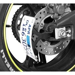 Powerstands Racing V5 Swingarm License Plate Bracket Black Universal