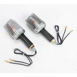 K&S Technologies Marker Lights Mini Stalk Long Stem Black/Clear