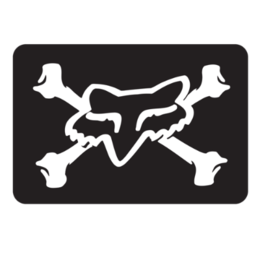 Black Fox Racing Fox Victory Sticker Decal 2 Inch