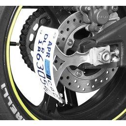 Powerstands Racing V5 Swingarm License Plate Bracket Chrome Universal