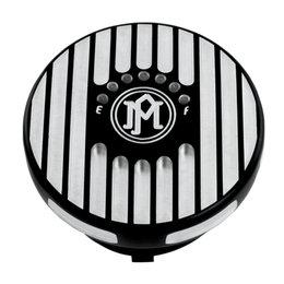 Performance Machine Grill Fuel Gauge Gas Cap Harley Contrast 0210-2025GRL-BM Black
