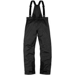 Icon Mens PDX 2 Waterproof Bib Textile Over Pants Black