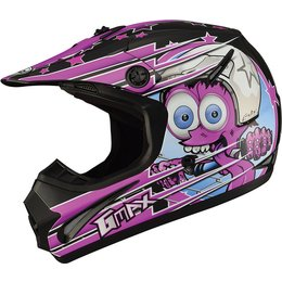 GMax Youth Girls 46.2Y Superstar Helmet Purple