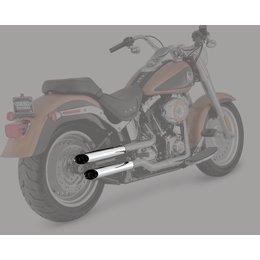 Python 2.5 Inch Slash-Cut Slip-On Mufflers Chrome For Harley-Davidson FLSTF