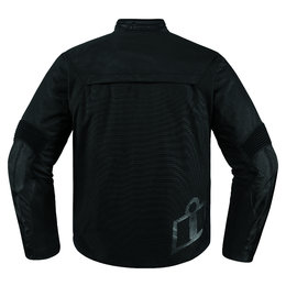 Icon Mens Konflict Armored Textile Street Riding Jacket Black
