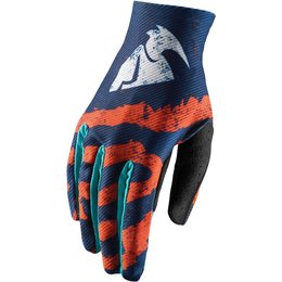Thor Youth Boys Void Rampant MX Gloves Orange